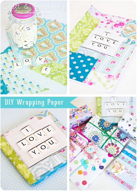color-copy cute things, to use as wrapping paper. Great idea on Craft and creativity