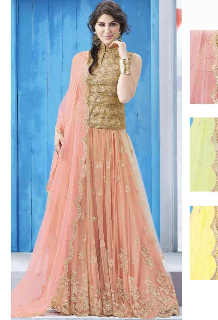 Pink Net Designer Lehenga 6719