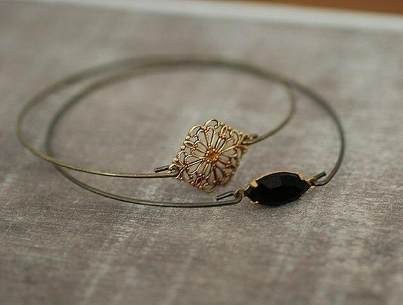 1001 Night Two Brass Bracelet