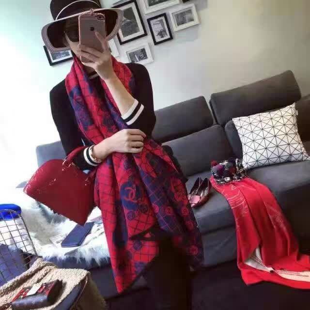 ガルシア風 シャネルマフラーブランドChanel レディース 冬秋愛用スカーフ 彼女プレゼント エレガント