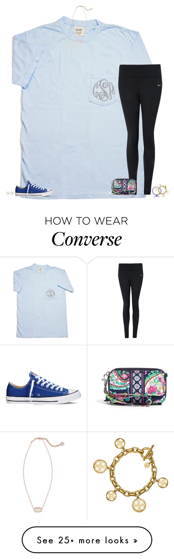 """be somebody who makes everybody feel like a somebody"" by secfashion13 on Polyvore featuring Converse, Kendra Scott, NIKE, Vera Bradley, Kate Spade, Michael Kors, women's clothing, women, female and woman"