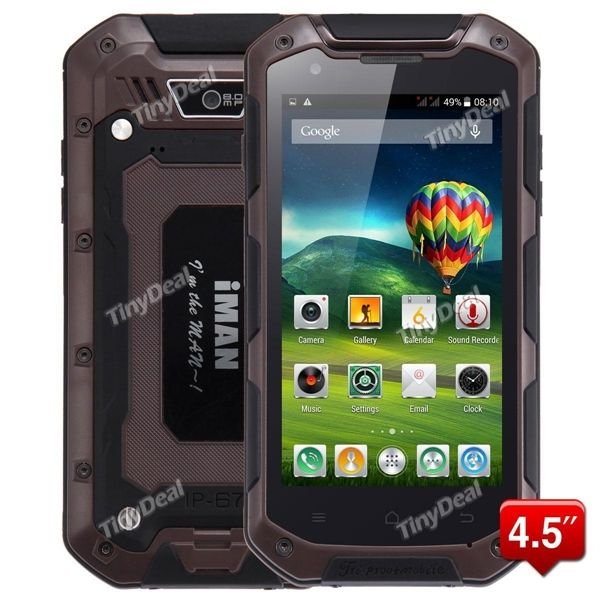 """IMAN I5800 4.5\"""" HD IPS Touch Screen MTK6582 4-Core Android 4.4.2 3G Phone GPS 8MP CAM 1GB RAM 8GB ROM P086-IMI5800"""