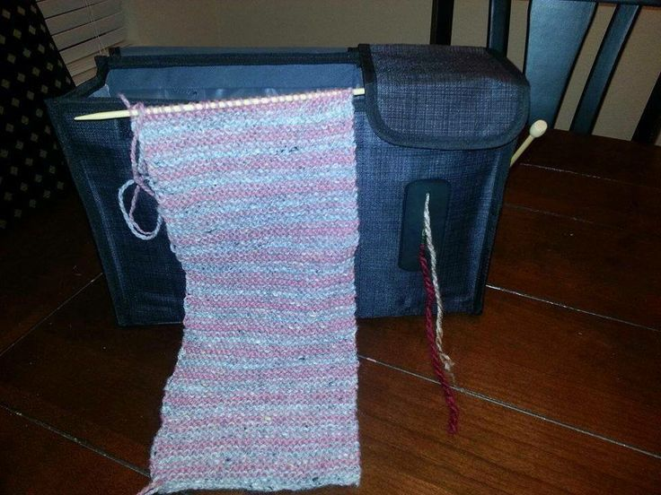 Thirty-One's new Pack N' Pull Caddy has so many uses...like a knitting bag!