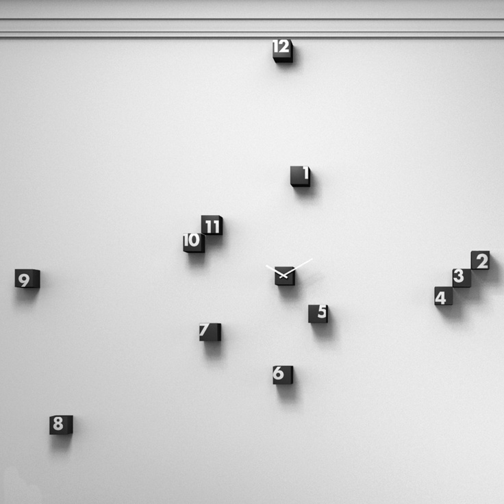 Awesome design for a clock! Can mount each piece on the wall as you please!