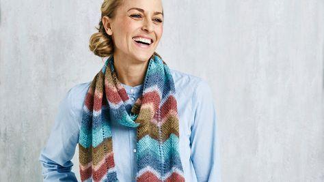 Sticka mönstrad halsduk – gratis beskrivning