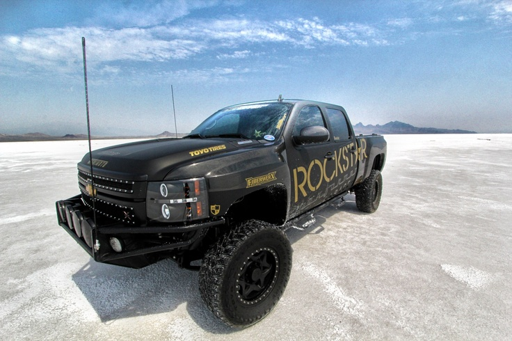 Chevy Truck Lifted >> Duramax on the Salt - New Rockstar Wrap | TRUCKS: Lowered or Lifted? | Pinterest | Diesel trucks ...