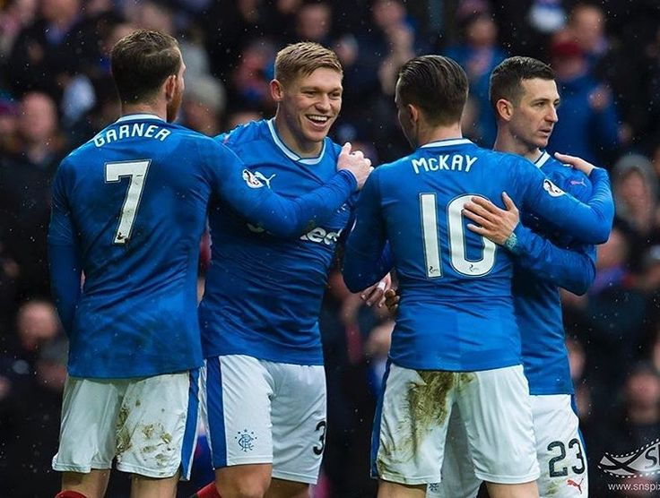 Martyn Waghorn congratulated by team-mates after goal v Inverness