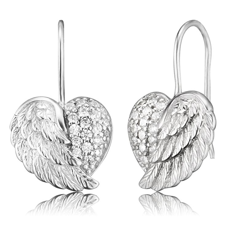 Earrings heartwing crystal silver $89.00 Click to open. Safe website and Worldwide delivery. Earrings trimmed with 38 crystal stones in high-quality handcraft.Made of rhodium plated 925 sterling silver.