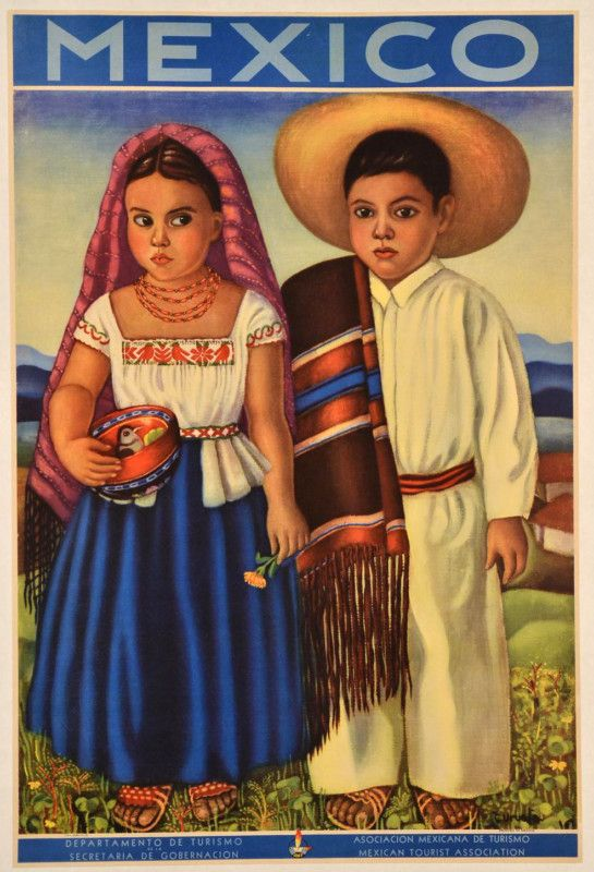 "Original # Vintage Mexican #Travel Poster ""Come and Visit Mexico"" 1957 By C. Uruela 