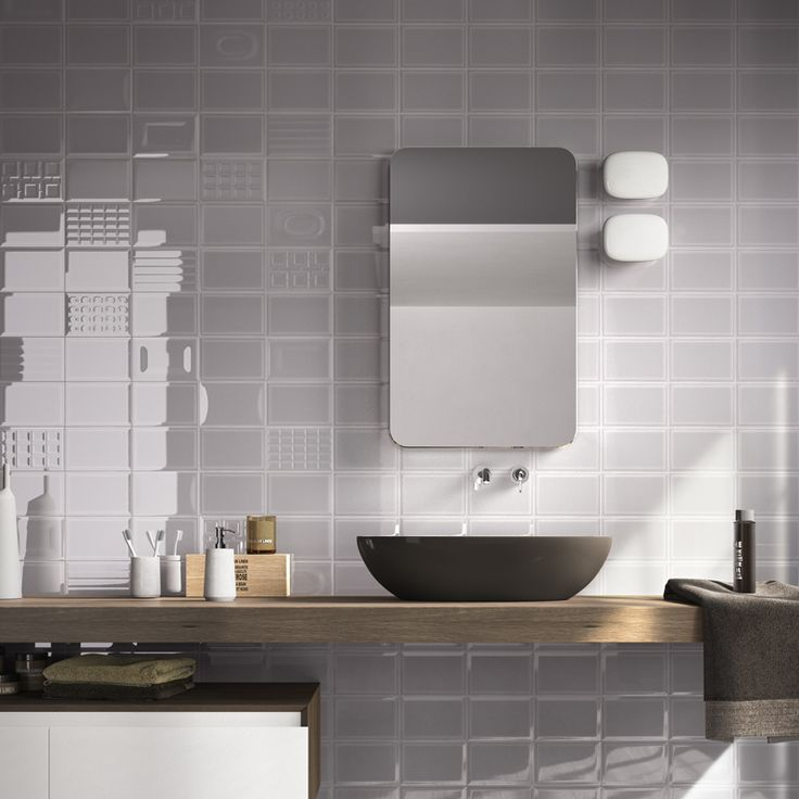 Discount Glass Tile Store   Imola Cento   Dark Gray Gloss Finish Wall Tile    $6.29