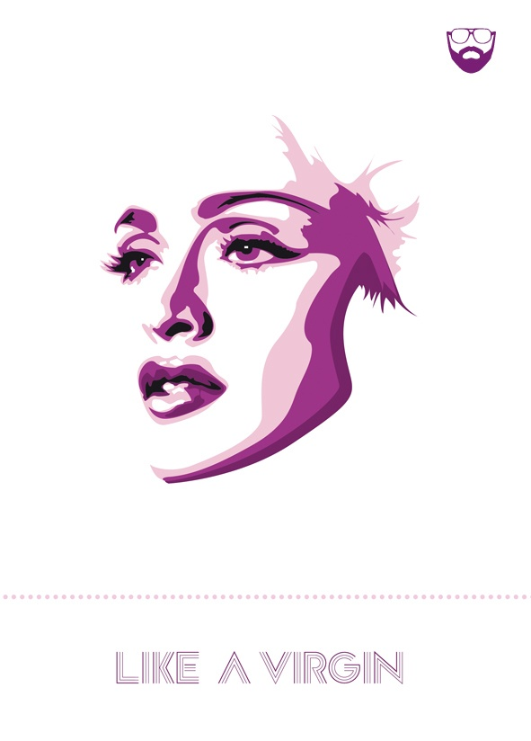 One color and many shades went into this smooth vector design. The goal of the female head had obviously been accomplished, The different colors are used as shadowing in the design. Overall a great use of color combination and attention to detail!