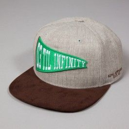 KING APPAREL INFINITY PINCH PANEL SNAPBACK GREY AND SUEDE - Caps