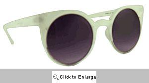 Vamp Retro Cat Eye Sunglasses - 509 White