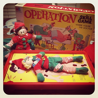 Elf magic playing a game of operation. #elfmagic #elfcapades