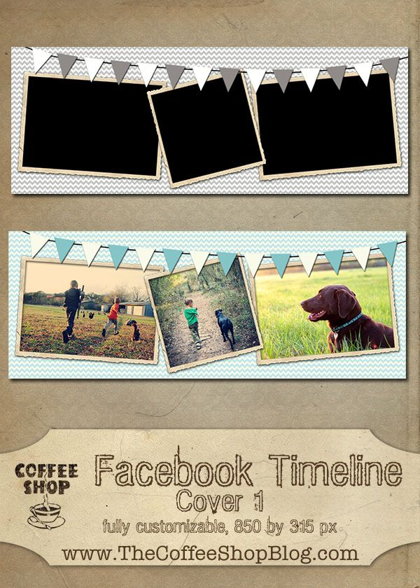 CoffeeShop Facebook Timeline Cover Template!!!