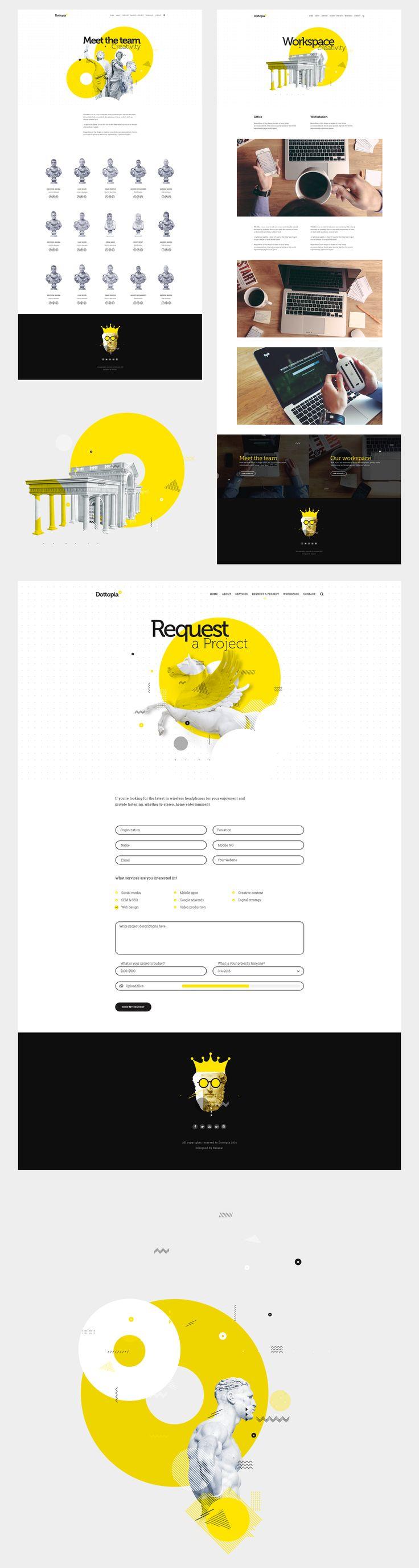 Dottopia web design UX/UI on Behance