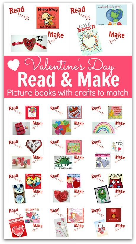 Check this out! Valentine's Day Picture books with easy to make craft ideas that match each book. This is perfect for Valentine's Day Parties at school, lesson planning for February, or just fun at home with your kids!