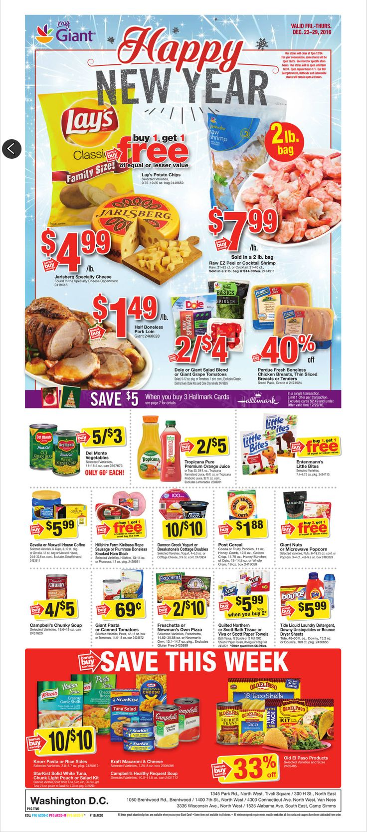 Giant Food Weekly Ad December 23 - 29, 2016 - http://www.olcatalog.com/grocery/giant-food-weekly-ad.html