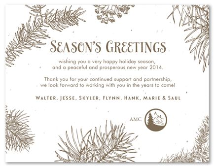 15 best holiday greeting cards plantable images on pinterest corporate holiday cards on seeded paper doug fir by green business print add your m4hsunfo Choice Image
