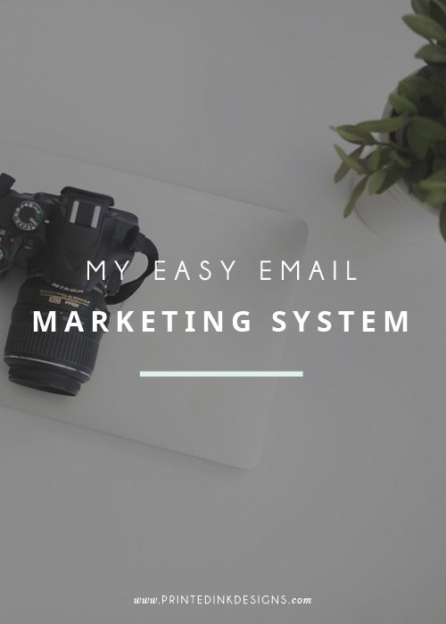 My easy email marketing system — Intentionally Designed