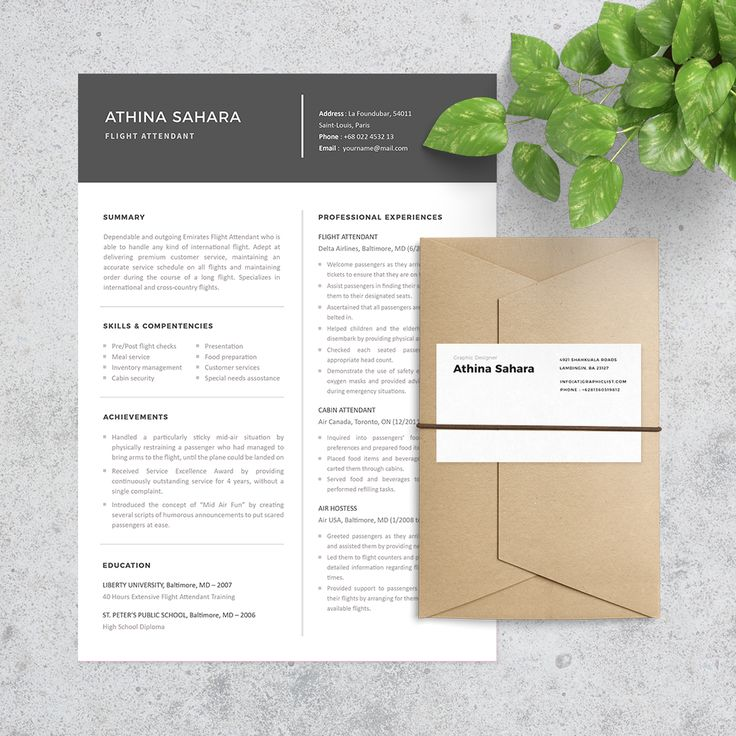 24 best Resume Templates images on Pinterest Cover letter - flight attendant resume template