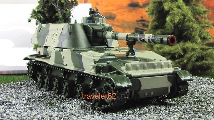 "1:72 2S3 ""Akatsiya"" 152.4 mm self-propelled artillery camouflage model & mag №80 #gefabbri"