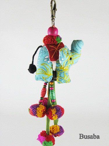 Fatto a mano elefante portachiavi, portachiavi elefante, elefante colorato, animale portachiavi