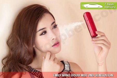 Nano Mist Emily Face Spray Rechargable 2nd Generation menjadikan wajah lebih segar hanya Rp 174.999 http://groupbeli.com/view.php?id=649