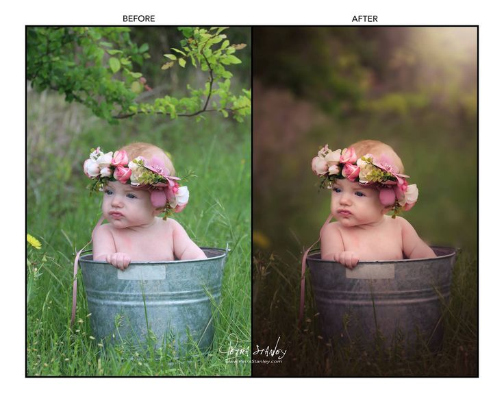 Photo Editing Video Tutorial of Baby in a Bucket - Step by Step How To Edit Blurred Background - Curves and Gradients Tutorial for Photoshop by PetraStanleyArt on Etsy