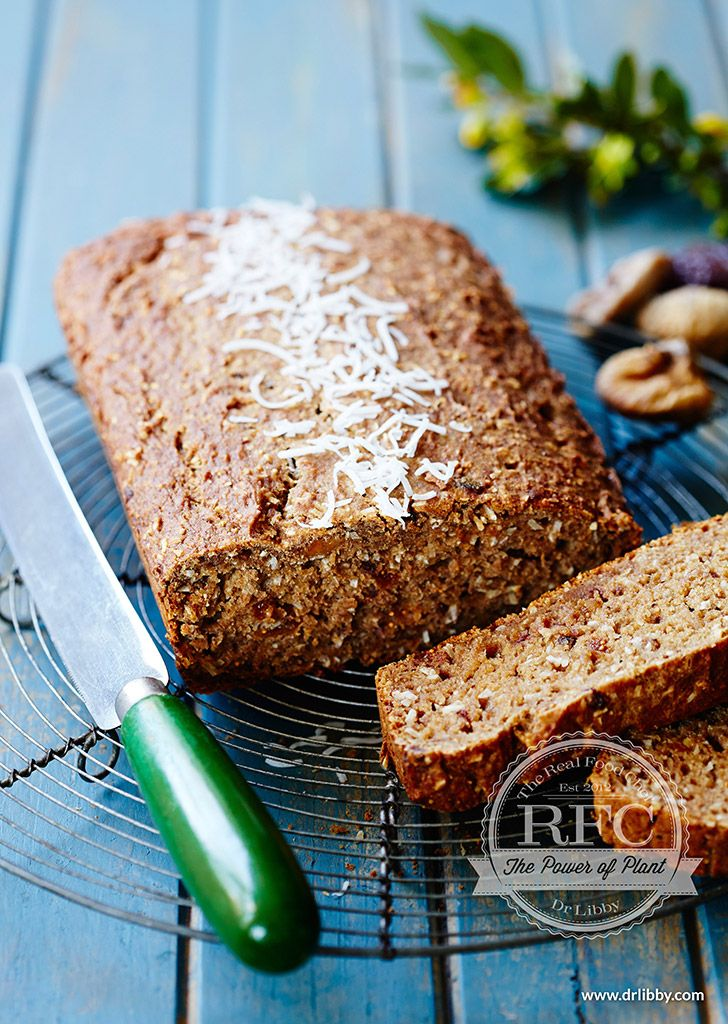 "Banana and Fig Loaf | This moist loaf is a nutrient-dense, ""Real Food Chef-ified"" version of the increasingly popular banana bread. Figs are a great fruit source of calcium, a mineral that has many functions including promoting bone density. Additionally, figs contain potassium, which conteracts the increased urinary calcium loss many people experience due to high sodium intakes from processed foods. 
