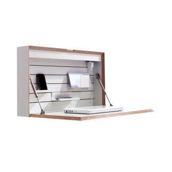 Die Flatbox aus den Müller Möbelwerkstätten ist ein Sekretär zum an die Wand hängen und so die ideale Lösung für jede beliebige Arbeitshöhe. Ob im Kinderzimmer, als normaler Sitzarbeitsplatz oder auch als Stehpult bietet die Flatbox optimalen Komfort. Befestigt wird dieser Sekretär mit Hilfe einer Keilleiste in beliebiger Höhe an einer tragenden Wand.