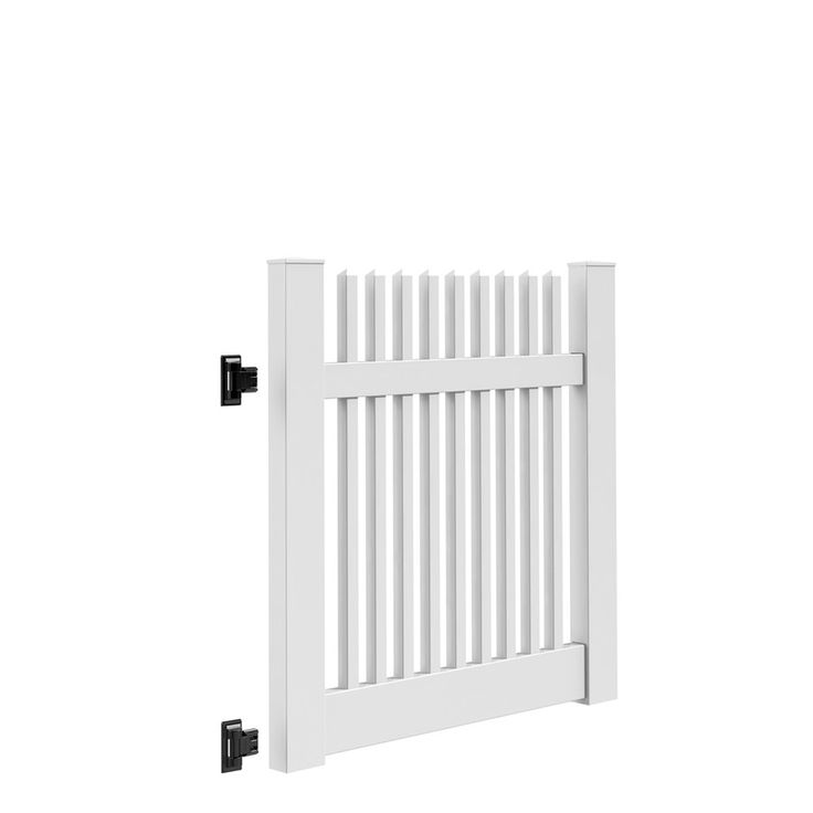 Freedom Keswick White Vinyl Vinyl Fence Gate Kit (Common: 4-ft x 4-ft; Actual: 4-ft x 3.83-ft)