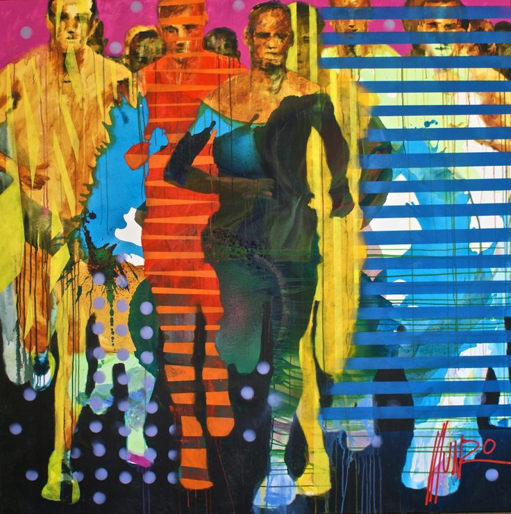 """""""they which run in a race run all"""" by South African Artist Munro, from his Ye Are Strong Collection 2016. www.munromunromunro.com"""