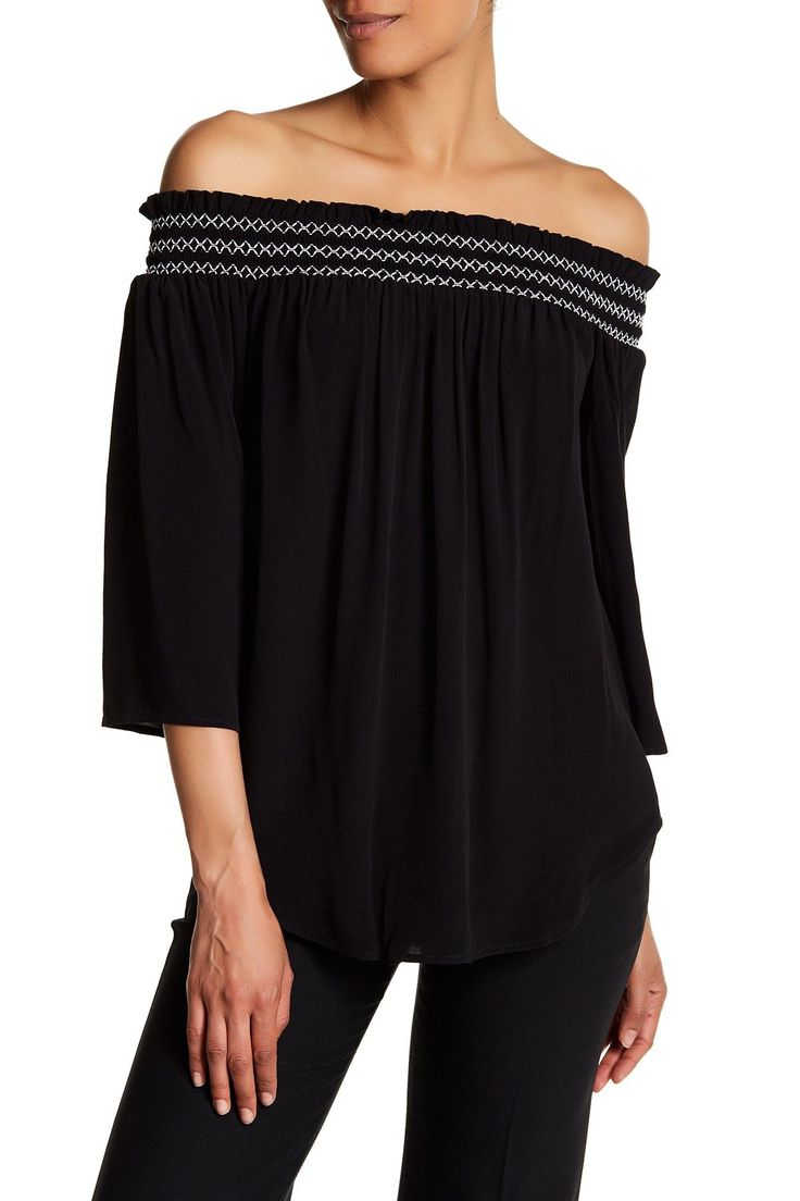 Off-the-Shoulder Shirt by Karen Kane on @nordstrom_rack