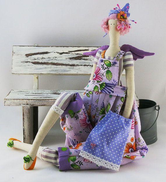 Fashion Doll Tilda angel Interior Doll Handmade ♡ by ToysCarousel