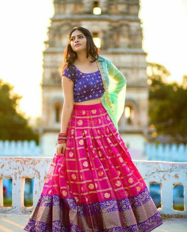 7a4443e459 Beautiful girl Silk Dupatta, Lehenga Choli, Kerala, Tie Dye Skirt, Formal  Dresses