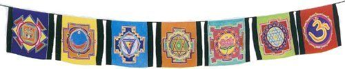 Yantra Prayer Flags by Ma's India. $42.95. Just in case you have yet to explore the world of yoga, a yantra is a mystical design. You might already be familiar with one. An OM symbol is a yantra. Believers use such symbols to call to the Divine. In yoga, yantras are used to assist your meditations and as a spiritual teaching tool. On each flag is a yantra in the form of a mandala which seeks to capture the essence of one of your chakras. What? You aren?t sure what a mandala is? ...