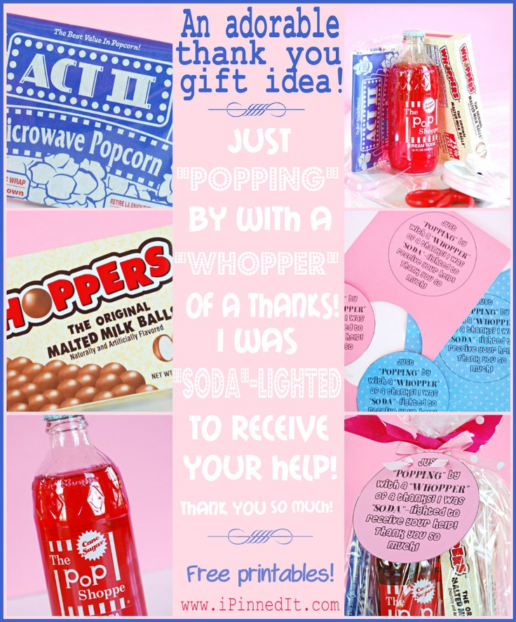 A Darling Thank You Idea Using Popcorn, Whoppers & Soda ...