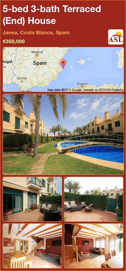 5-bed 3-bath Terraced (End) House in Javea, Costa Blanca, Spain ►€350,000 #PropertyForSaleInSpain