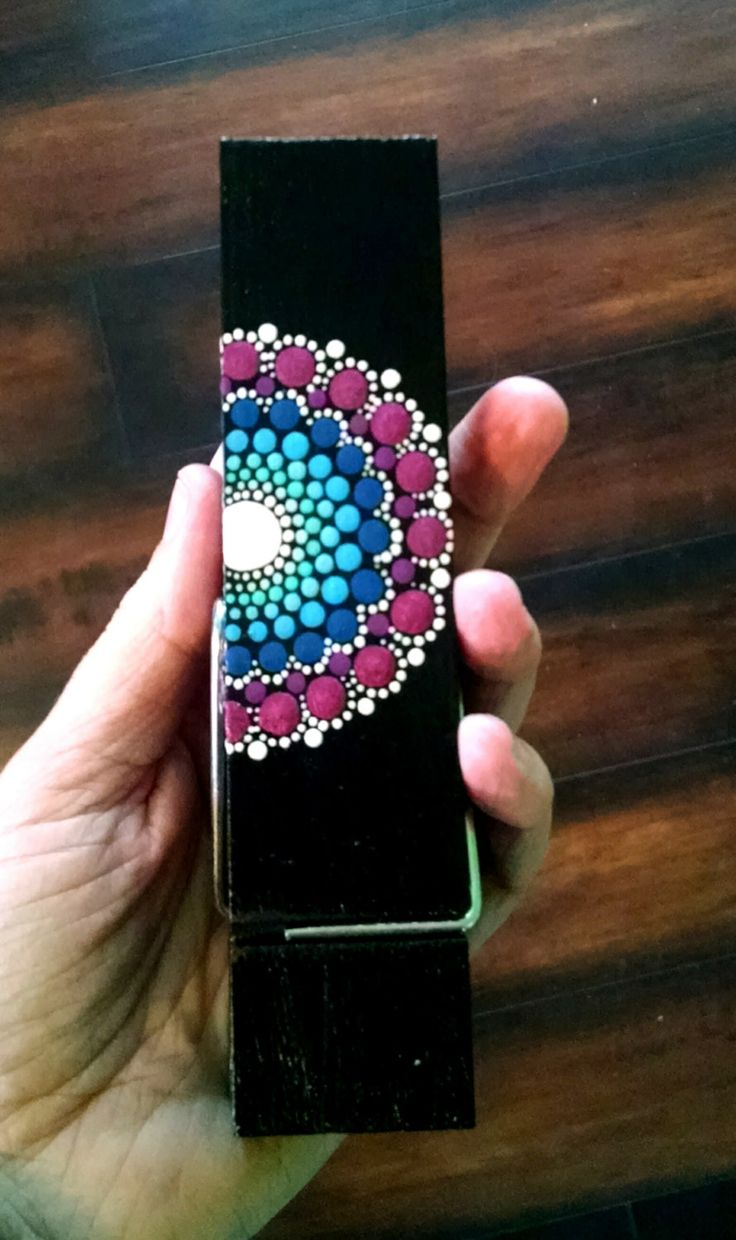 Hand Painted Dot Art Magnetic Clip ~ Large Decorative Wood Clothes Pin ~ Turquoise Teal Magenta Mandala Flower ~ Home Decor Ornament ~ by P4MirandaPitrone on Etsy