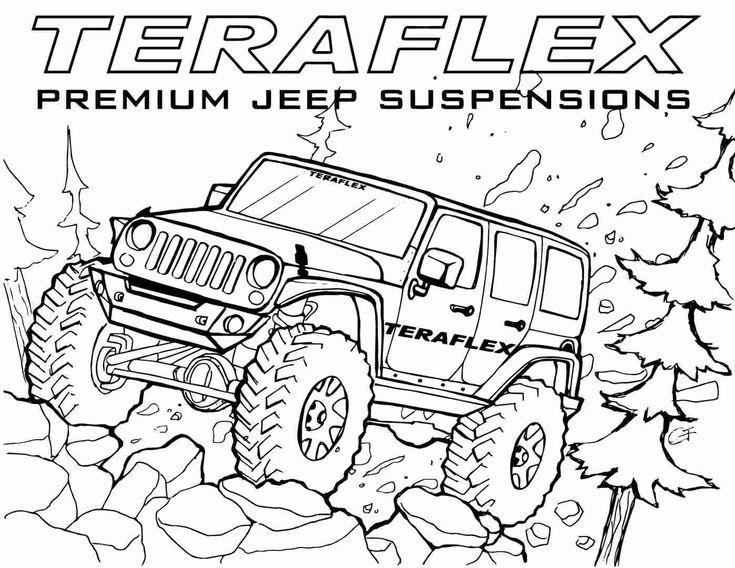 Cartoon Car Coloring Pages Elegant Teraflex Jeep Coloring ...