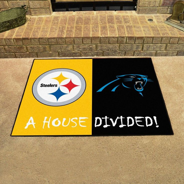 """NFL Carolina Panthers/Pittsburgh Steelers House Divided Rug 33.75""""x42.5"""""""