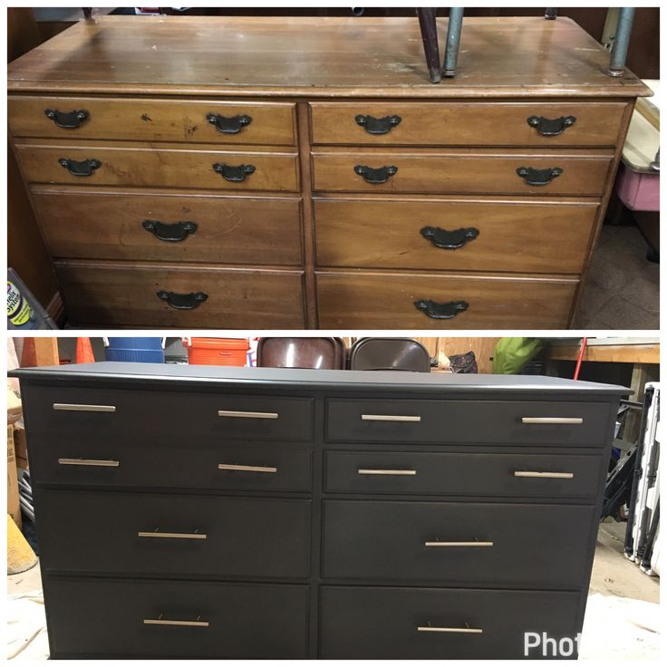 I bought this solid wood dresser at