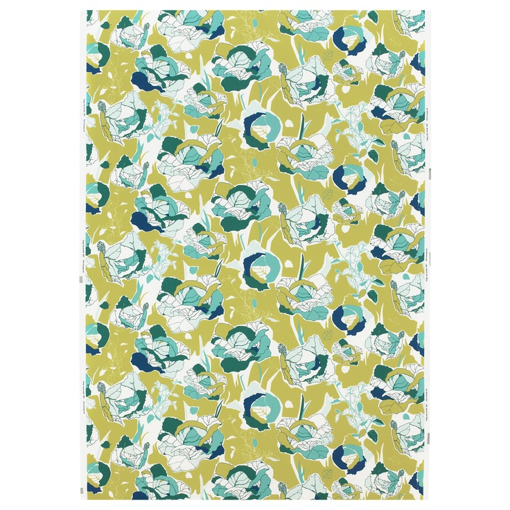 JANETTE Fabric - cabbage patterned/green - IKEA
