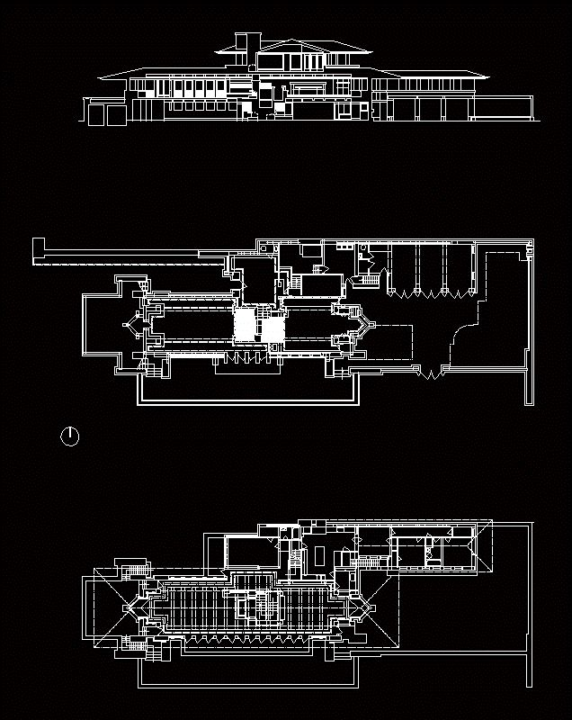 Cad House Design Ipad: Robie House In AUTOCAD DRAWING