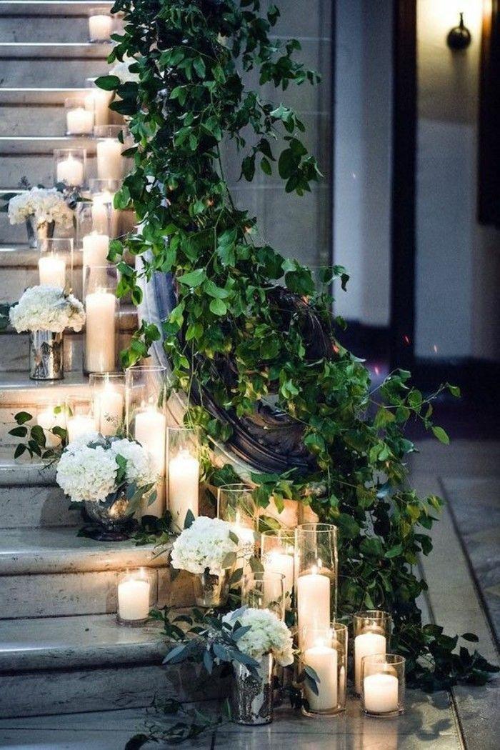 décoration de mariage pas cher, comment décorer les escaliers   – Hochzeitsdekor