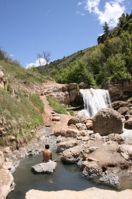 Hot Springs in Utah see a lot if naked people at thus place but its still fun to hike 2