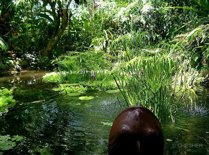 secret garden fountain in Port Vila, Vanuatu