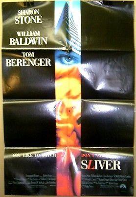 Movie Poster Sliver Sharon Stone Tom Berenger F53
