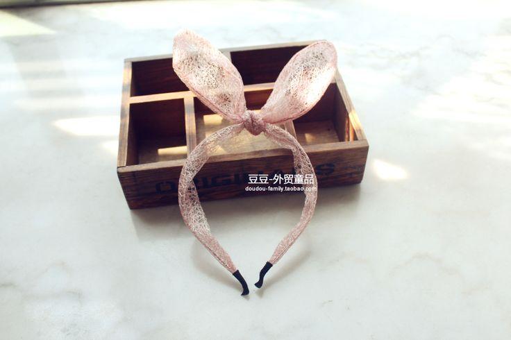Внешняя торговля оригинальные одной девушки мило лук розовые ленты для волос аксессуары для волос, изменение формы сладкие девочки дикие - T. ..